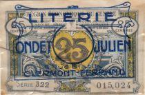 France 25 Centimes Publicitaire Lietrie Ondet - Clermont Ferrand