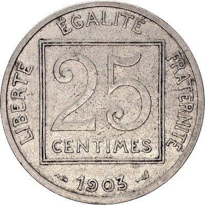 France 25 Centimes Republic - 1903