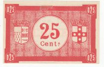 France 25 Centimes Roubaix-Tourcoing - 1914-1918 - Serial AZ 21 - aUNC