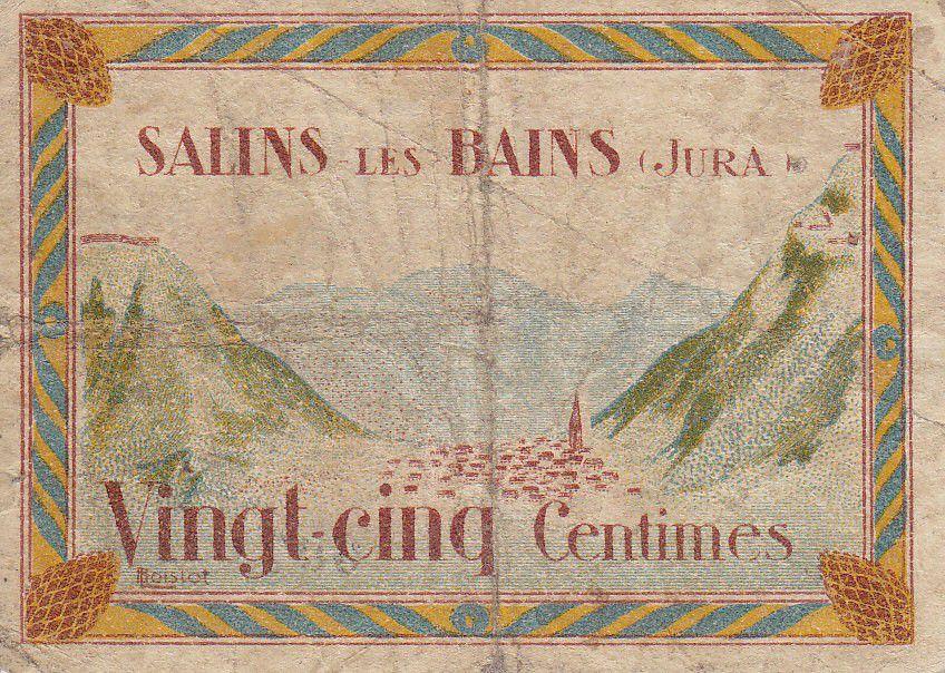 France 25 Centimes Salins-Les-Bains City