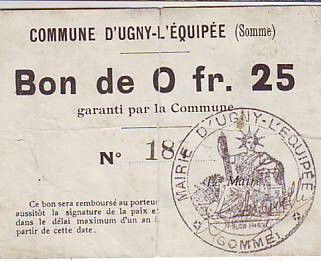 France 25 Centimes Ugny-L´equipee