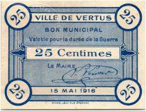 France 25 Centimes Vertus City - 1916