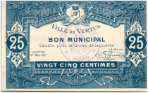 France 25 Centimes Vertus City - 1917