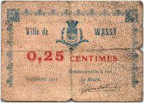 France 25 Centimes Wassy City - 1916