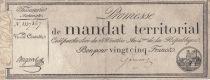 France 25 Francs Mandat Territorial - 28 Ventose An IV (18.03.1796) - TTB