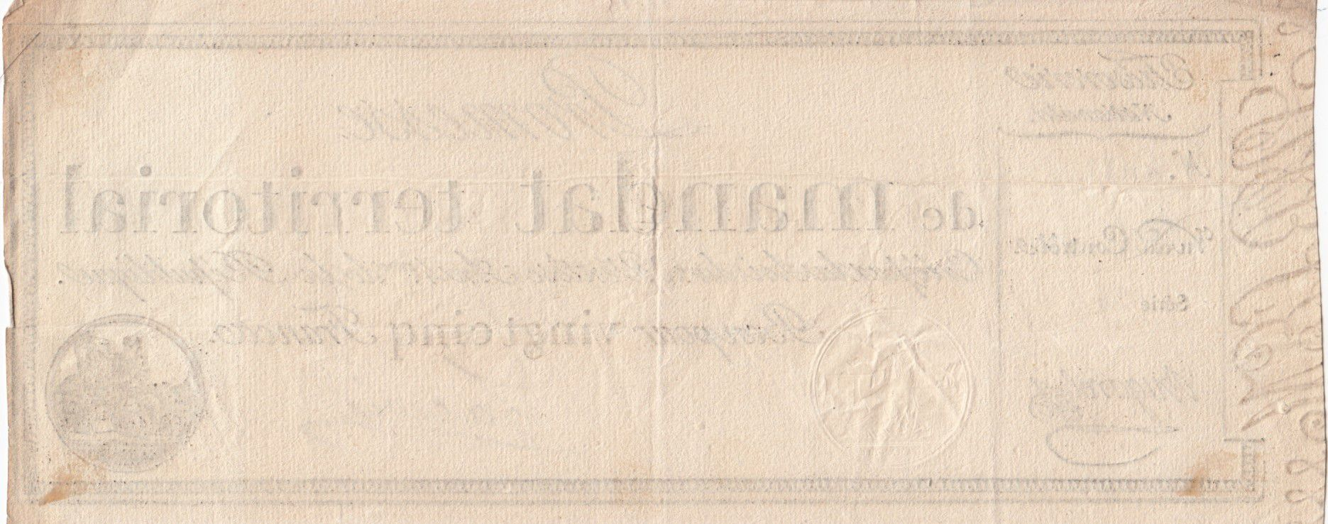 France 25 Francs with serial - 28 Ventose An IV (18.03.1796) - VF