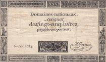 France 25 Livres - 06-06-1793 - Sign. A. Jame Serial 2674
