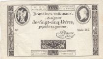 France 25 Livres - Louis XVI 24-10-1792 - Sign. A. Jame - Serial 565