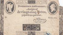 France 25 Livres - Louis XVI 24-10-1792 - Sign. A. Jame - Série 254