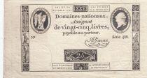 France 25 Livres - Louis XVI 24-10-1792 - Sign. A. Jame - Série 488