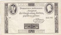 France 25 Livres - Louis XVI 24-10-1792 - Sign. A. Jame - Série 565