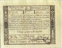 France 25 Livres Caisse de Commerce - 1791 - Paris
