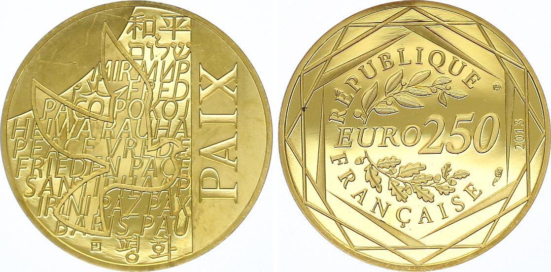 France 250 Euro Or - La Paix - 2013 - Neuf