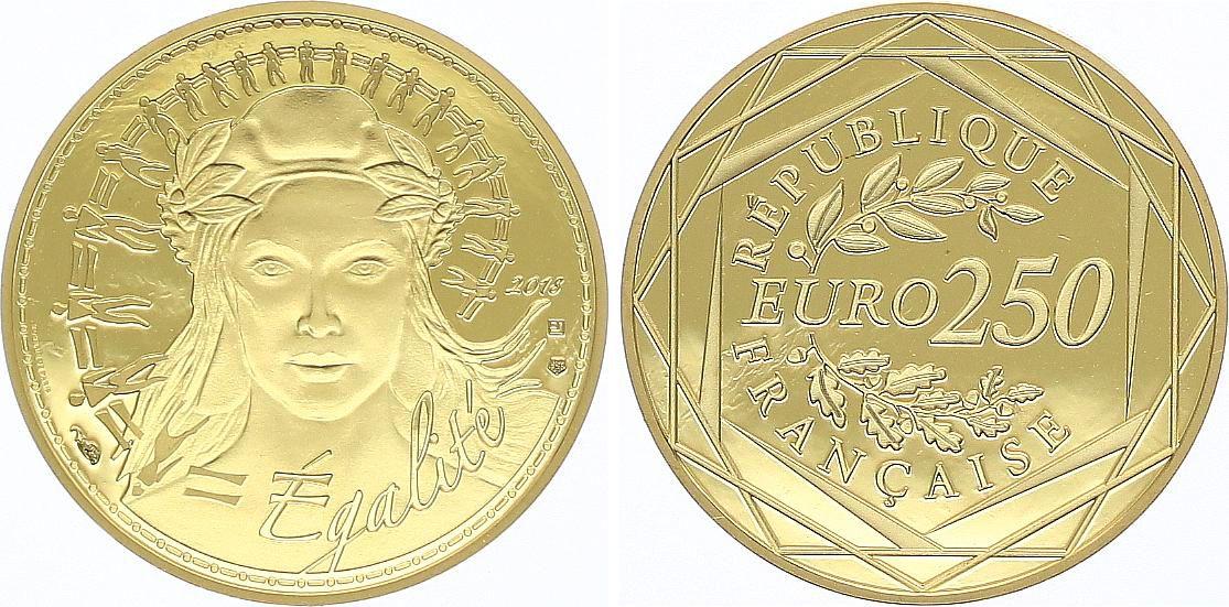 France 250 Euro Or - Marianne  Egalité - 2018  Neuf