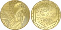 France 250 Euro Or - Rooster - 2015  - UNC - GOLD