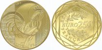 France 250 Euro Or - Rooster - 2016  - UNC - GOLD