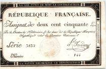 France 250 Livres 7 Vendemiaire An II - 28.9.1793 - Ls Froidure