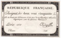 France 250 Livres 7 Vendemiaire An II - 28.9.1793 - Sign.  Andrieu - VF
