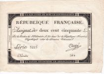 France 250 Livres 7 Vendemiaire An II - 28.9.1793 - Sign.  Augé - VF+