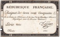 France 250 Livres 7 Vendemiaire An II - 28.9.1793 - Sign.  Dejean - VG to F