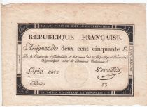 France 250 Livres 7 Vendemiaire An II - 28.9.1793 - Sign.  Descuiller - TTB