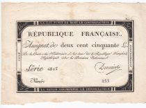 France 250 Livres 7 Vendemiaire An II - 28.9.1793 - Sign.  Domain - TTB+