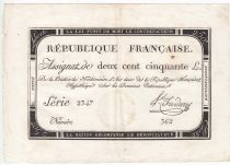 France 250 Livres 7 Vendemiaire An II - 28.9.1793 - Sign.  Froidure - VF+