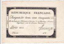 France 250 Livres 7 Vendemiaire An II - 28.9.1793 - Sign.  Huraux - TTB+