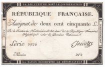 France 250 Livres 7 Vendemiaire An II - 28.9.1793 - Sign.  Jacinte - VF