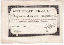 France 250 Livres 7 Vendemiaire An II - 28.9.1793 - Sign.  Leclerc - VF