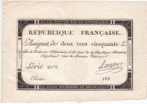 France 250 Livres 7 Vendemiaire An II - 28.9.1793 - Sign.  Levet - VF+