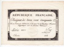 France 250 Livres 7 Vendemiaire An II - 28.9.1793 - Sign.  Say - XF