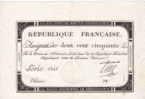 France 250 Livres 7 Vendemiaire An II - 28.9.1793 - Sign.  Tiné - VF+