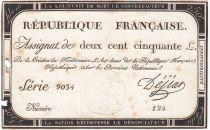 France 250 Livres 7 Vendemiaire An II - 28.9.1793 - Sign. Dejean - PTB