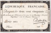 France 250 Livres 7 Vendemiaire An II - 28.9.1793 - Sign. Dubosc - PTB