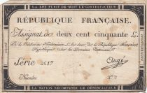 France 250 Livres An 2 - 1793  - Serial 2617