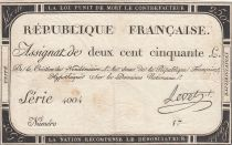 France 250 Livres An 2 - 1793  - Serial 4004