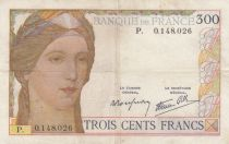 France 300 Francs Ceres and Mercury - 1938 - P. 0.148.026 -  VF - P.87