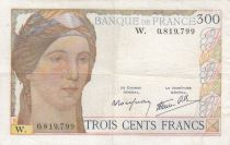 France 300 Francs Ceres and Mercury - 1938 - W.0819.799 - VF - Serial W Scarce