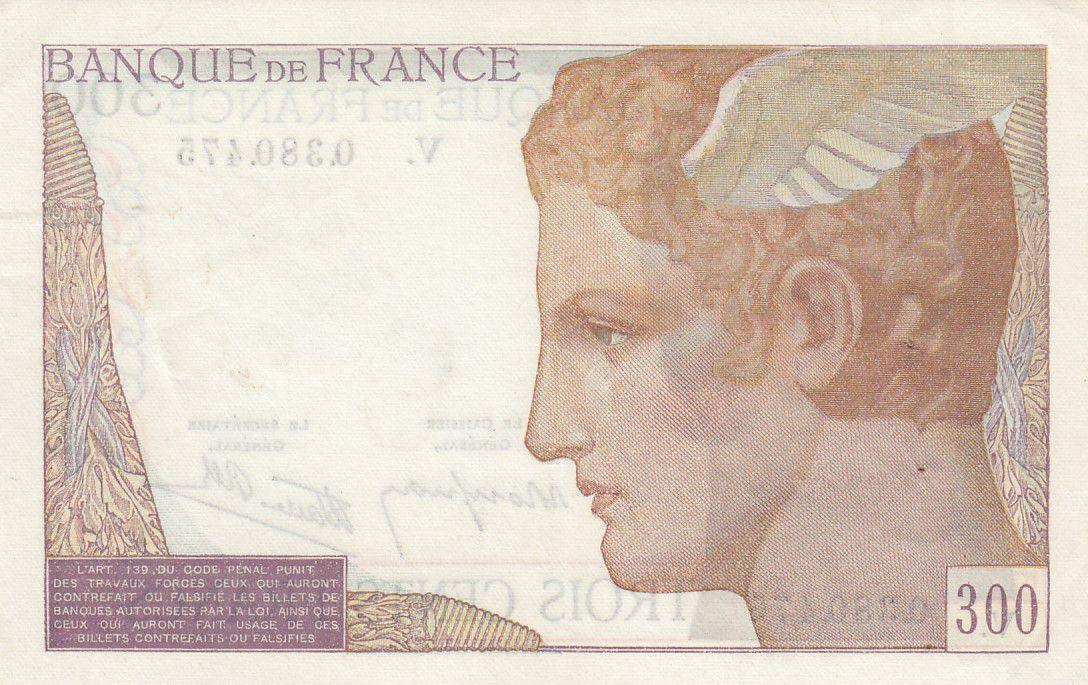 France 300 Francs Cérès et Mercure - 1939 - V.0.380.475 - TTB