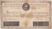 France 300 Livres Bust of Louis XVI - 19-06 et 12-09-1791 Serial E - Sign. Schveizer - F
