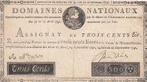 France 300 Livres Louis XVI - 19-06 et 12-09-1791 Série A - TTB