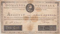 France 300 Livres Louis XVI - 19-06 et 12-09-1791 Série E - Sign. Schveizer - TB