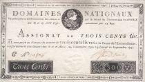 France 300 Livres Louis XVI - 19 Juin et 12 Sept. 1791 - Série C 19876