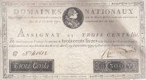 France 300 Livres Louis XVI - 19 Juin et 12 Sept. 1791 - Série C 40512