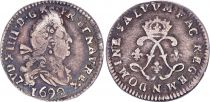 France 4 Sols, Louis XIV aux 2 L - 1691 N Montpellier - Argent