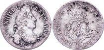 France 4 Sols, Louis XIV aux 2 L - 1692 D Lyon - Argent