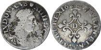 France 4 Sols Louis XIV - 1696 - D Lyon - Silver