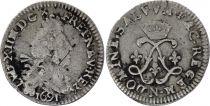 France 4 Sols Louis XIV aux 2 L - 1691 N Montpellier - Argent