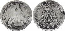 France 4 Sols Louis XIV aux 2 L - 1692 K Bordeaux - Argent